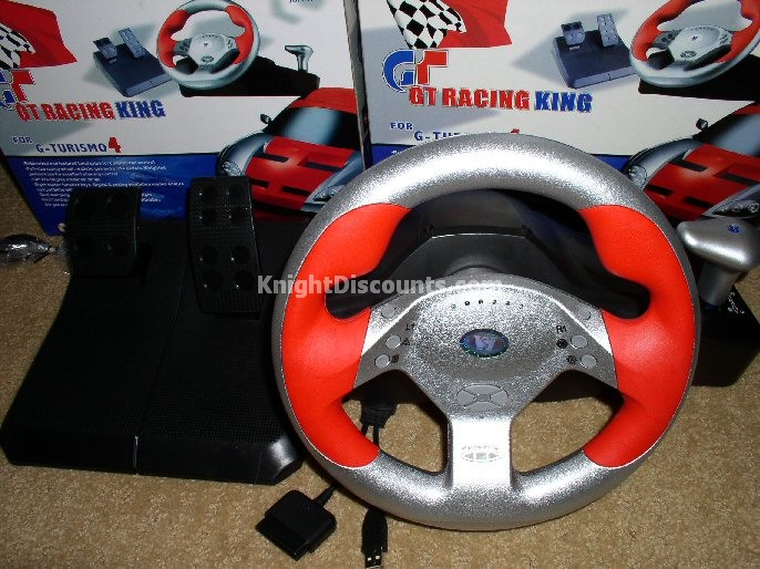 Real Driving Games >> Sony Playstation - Knight Discounts Online Store - PS2 GT Racing Wheel