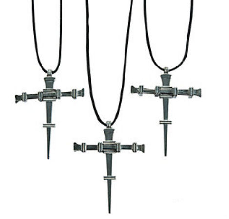 Nail Cross Necklaces
