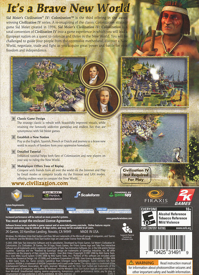 Sid Meier's Civilization IV: Colonization FAQs ...