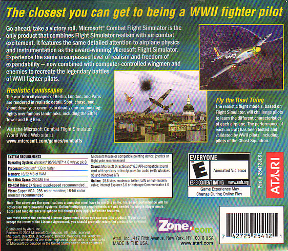 Amazon.com: Combat Flight Simulator: WWII Europe Series (Jewel