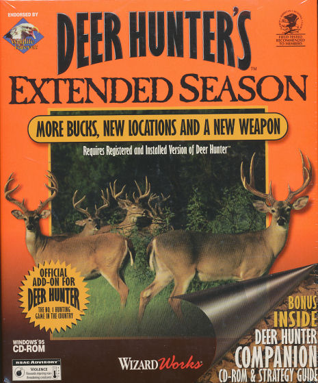 DEER HUNTER'S EXTENDED SEASON - Rare Expansion Vintage Hunting PC