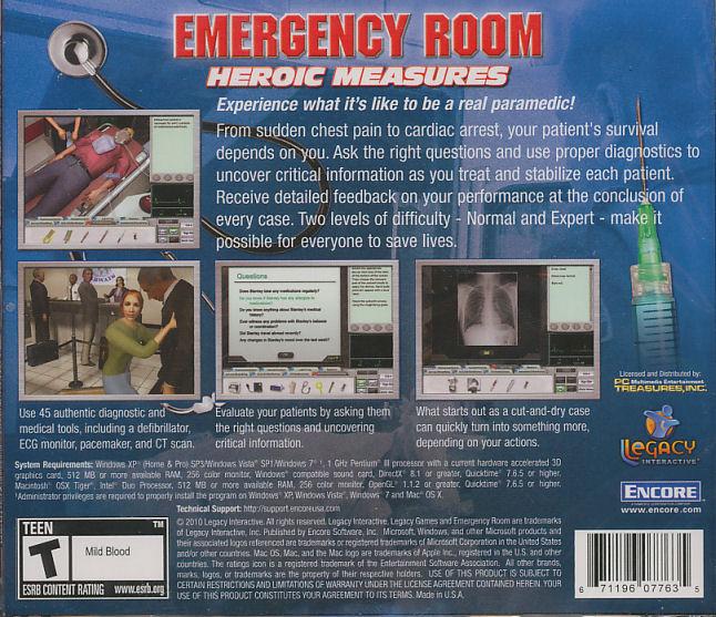 Emergency Room Survival Simulation