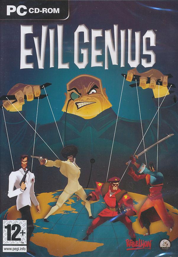 EVIL GENIUS World Domination Strategy Sim PC Game NEW | eBay  EVIL GENIUS Wor...