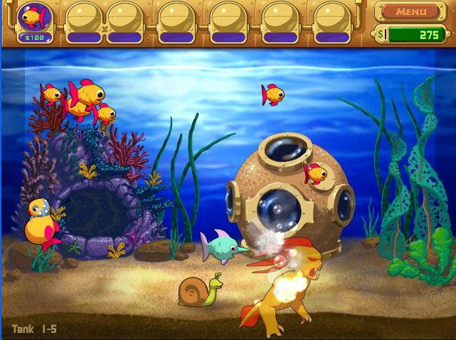 Insaniquarium deluxe for Wmat game and fish