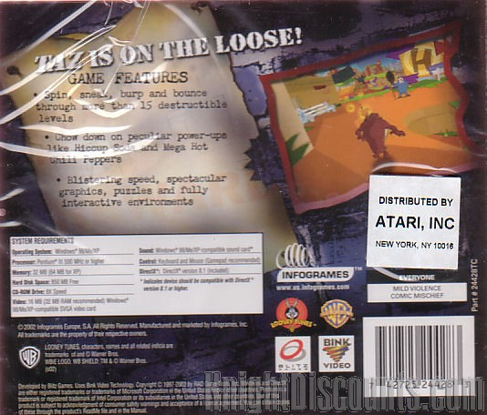 Taz Wanted Looney Tunes PC Game New XP 3546430023624  eBay