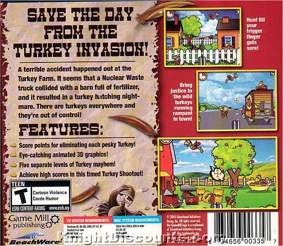 TURKEY HUNTER 3D Win/Mac Hunting Game NEW in BOX | eBay