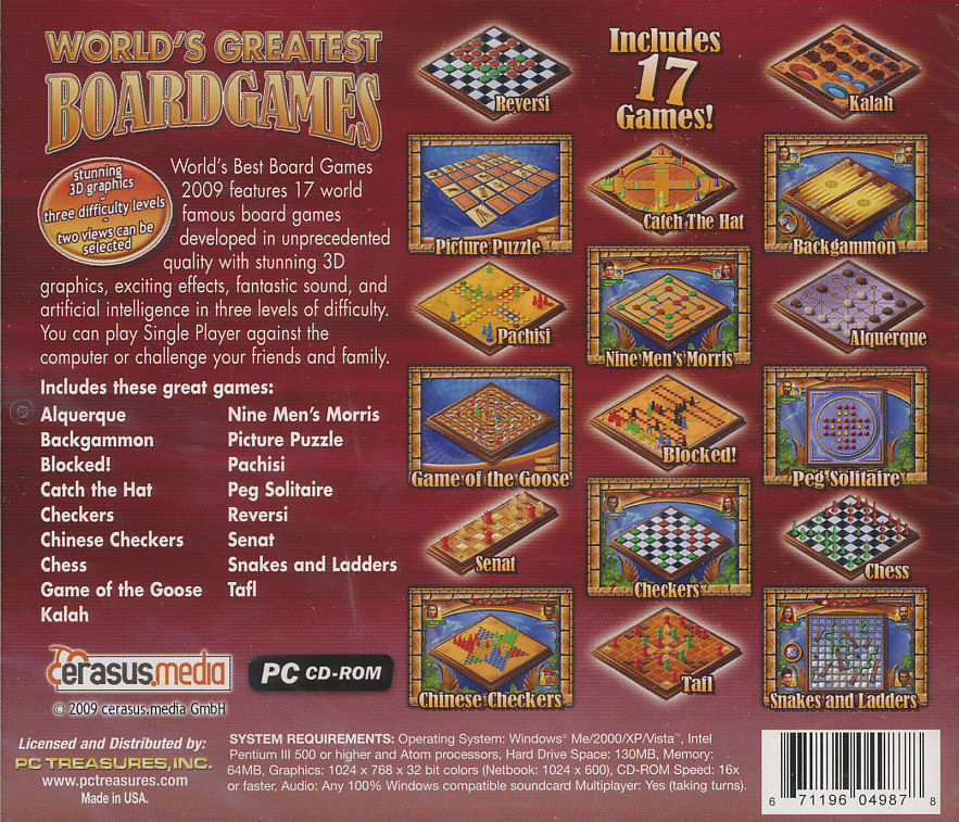 WORLDS BEST BOARD GAMES PC Backgammon, Chess, Etc World's