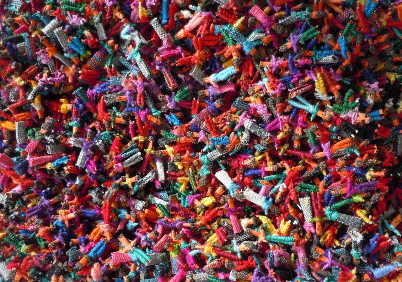 140 Tiny Worry Dolls - Guatemalan Trouble Doll Handmade Mayan - US ...