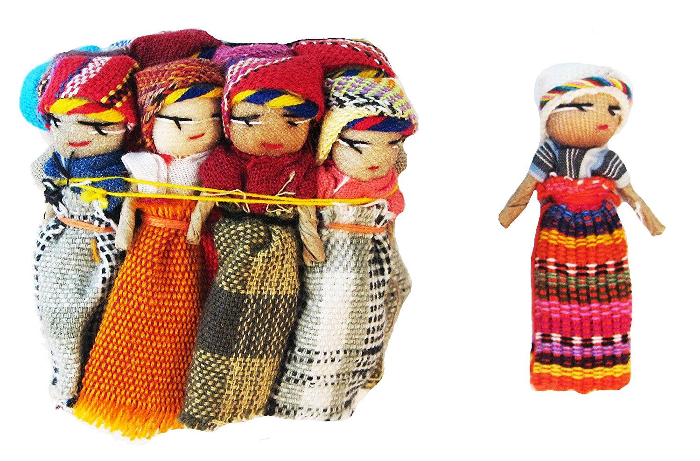 One Dozen Worry Doll 2 Inch Size