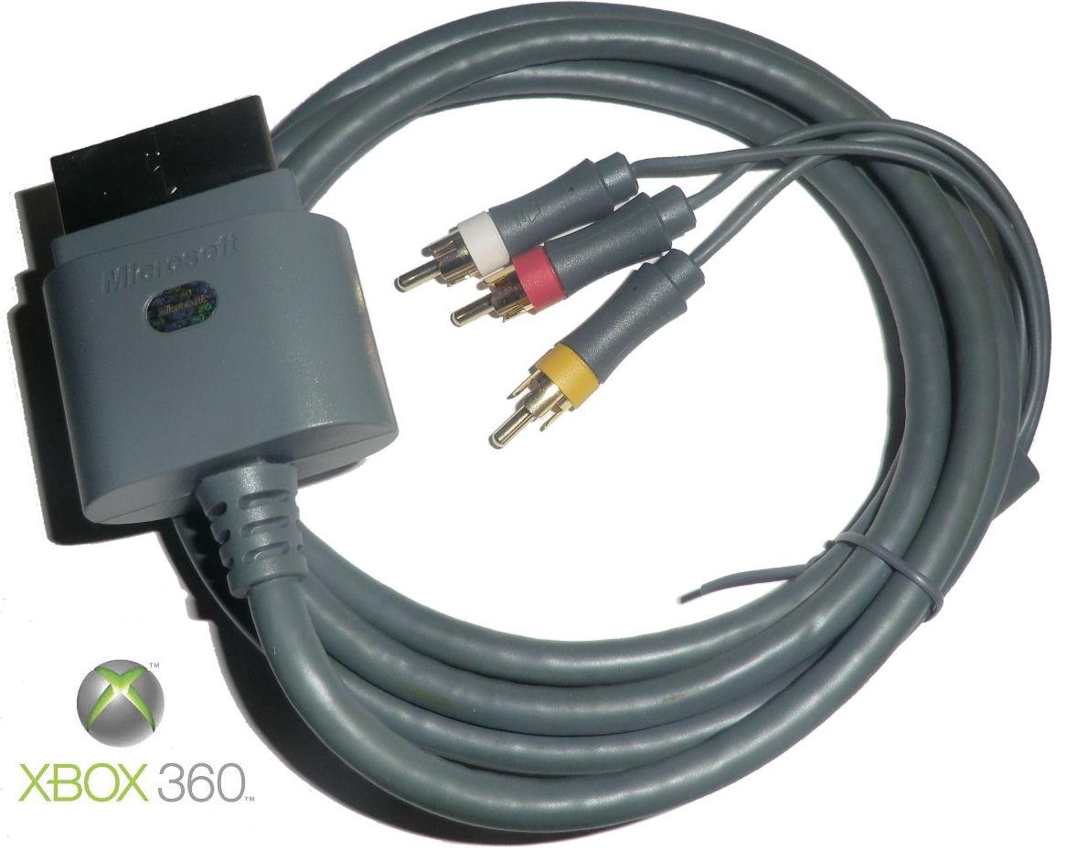 Genuine Microsoft Xbox 360 Standard AV Cable -Composite RCA Audio ...